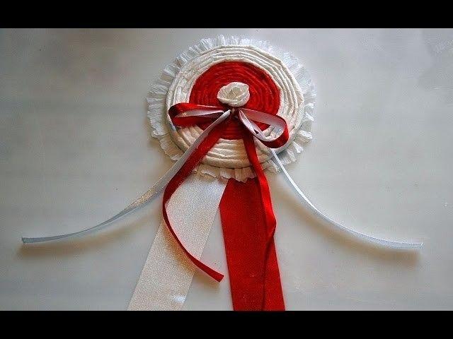 Kotylion # Kokarda narodowa  z różyczką # część 5 # DIY
