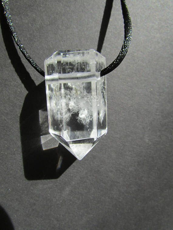 Clear quartz crystal pendant drilled crystal point polished planet clear quartz crystal pendant drilled crystal point polished aloadofball Choice Image
