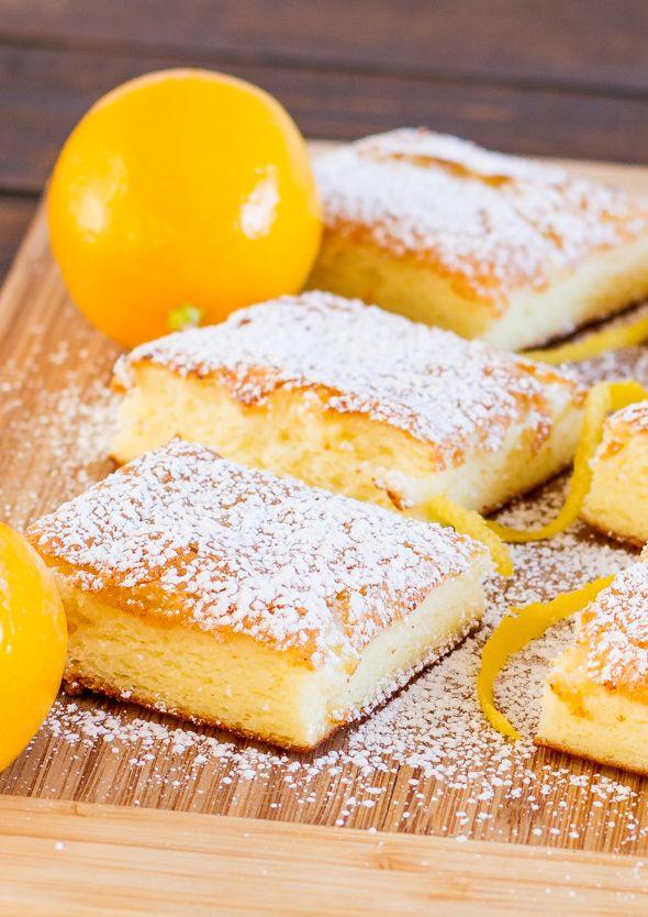 Two Ingredient Fat Free Lemon Bars | http://www.jocooks.com/bakery/cakes/two-ingredient-fat-free-lemon-bars/