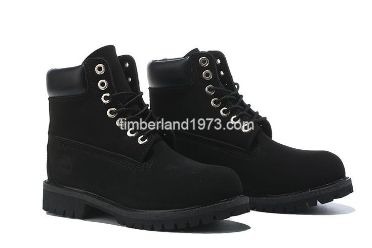 New Fashion Timberland 6 Inch Boots All Blacks Kids On Sale $ 65.00