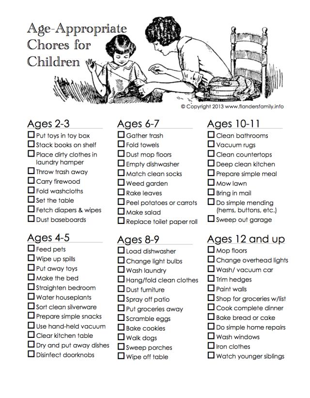 Age-Appropriate Chores for Toddlers ;)