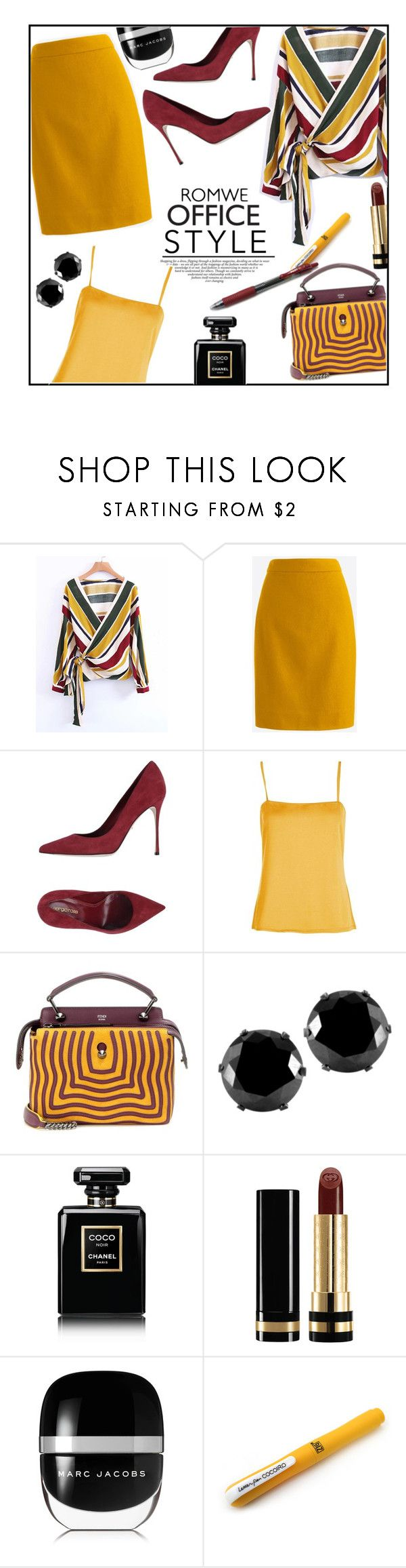 """""""OFFICE style"""" by jckallan ❤ liked on Polyvore featuring Sergio Rossi, Boohoo, Fendi, West Coast Jewelry, Chanel, Gucci and Marc Jacobs"""