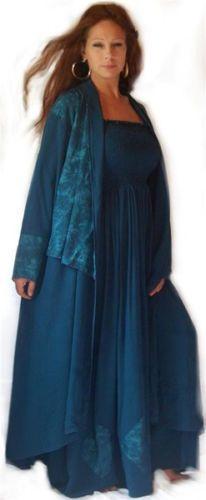 f412 lovely maxi dress long jacket set s m l xl 1x 2x 3x 4x 5x 6x