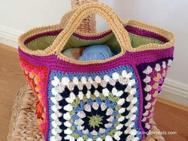 Granny Square Stash Bag