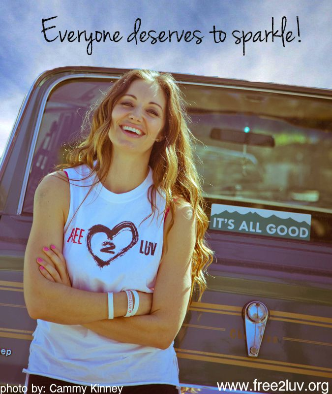 Everyone deserves to sparkle! Come celebrate individuality with Celeb Ambassador, Bianca Kajlich! http://free2luv.org/