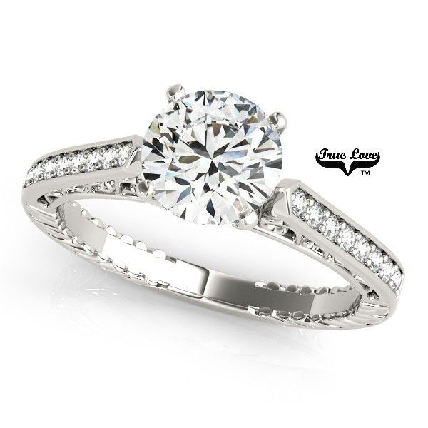 3 carat moissanite engagement ring.  Set in the metal of your choice.