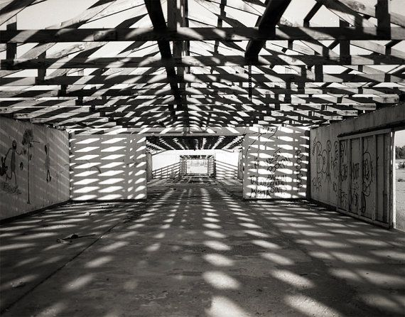 Abandoned Warehouse Photograph - Signed Fine Art Print - Pattern, Lines, Industrial