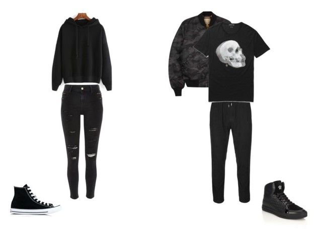 """SI Scroo 3"" by darie-turie on Polyvore featuring River Island, Converse, Folk, Alpha Industries, Alexander McQueen и Versace"