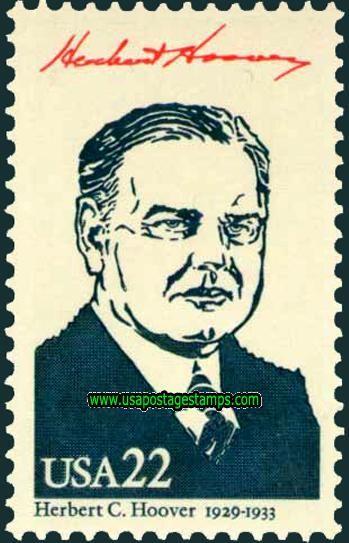 Commemorative Stamp | Commemorative Stamps: 22c Herbert C. Hoover. Ameripex\'86 Stamp ...