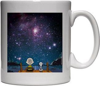 Uzay Boşluğu Snoopy Kendin Tasarla - Beyaz Kupa