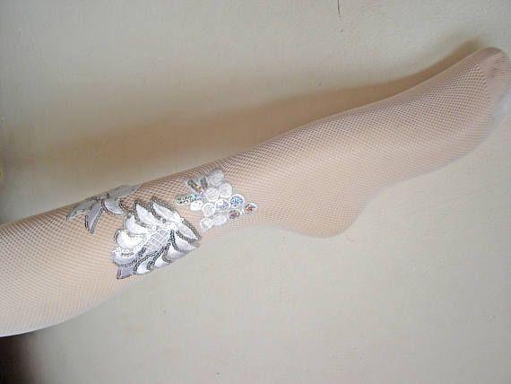Tights White fishnets Bridesmaid socks Bridesmaid tights