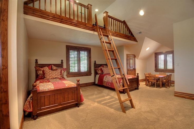 Repair Bedroom In A Loft Style : Ladder, A child and Loft on Pinterest