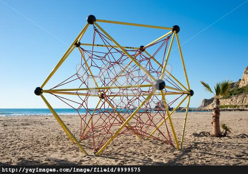 Jungle Gym Rope Structure On A Beach Playground Gym Rope Jungle Gym Playground