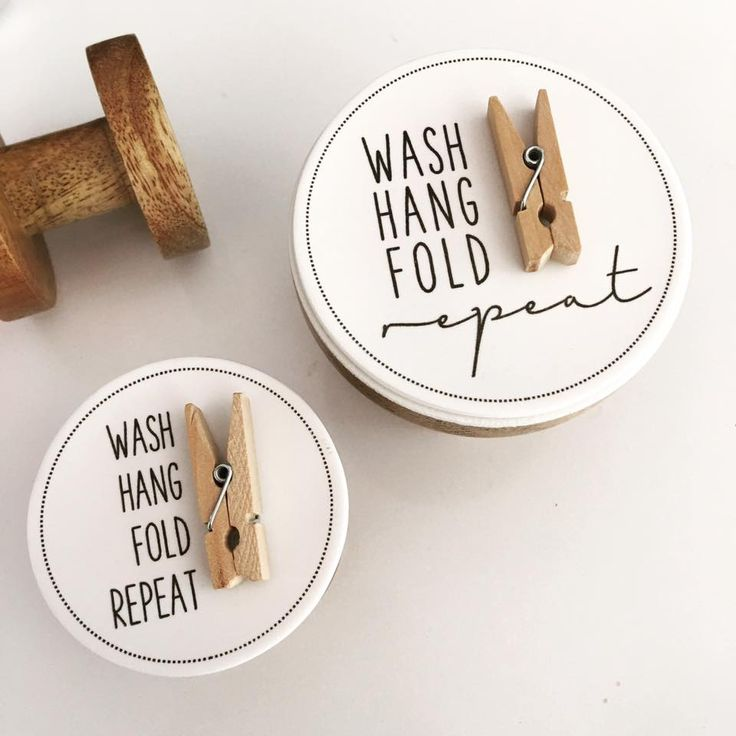 laundry pegs - wash, hang, fold, repeat! www.spicetospace.com