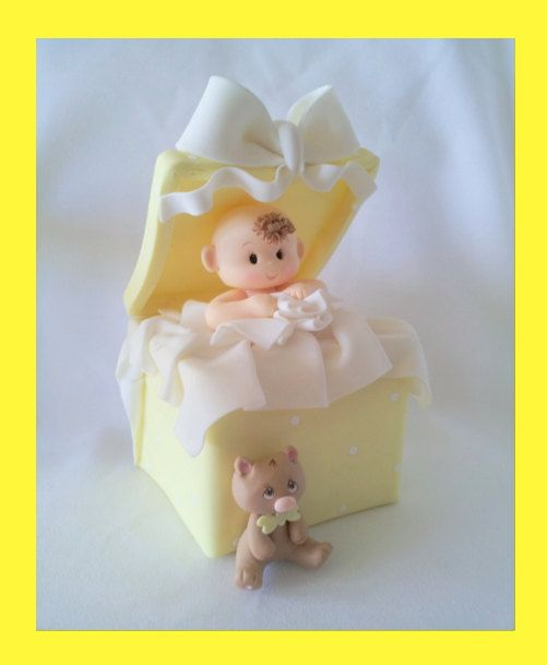 UNISEX BABY SHOWER Cake topper.Baby boy cake topper. Baby shower table decoration. First baby birthday.