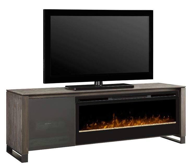 The Howden Media Console is natural and earthy #Dimplex #fireplace