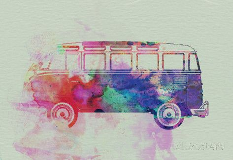 VW Bus Watercolor - Affischer på AllPosters.se