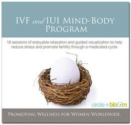 IVF/IUI Mind-Body Program by Circle + Bloom. $69.00. 5 CD set audio program. There are 18 unique sessions that correspond to the special requirements of the medicated cycle and include special attention to the synthetic hormones and advanced procedures. Two special sessions for egg retrieval and implementation while the procedures are being done.  Program Features      * 18 unique sessions that progress with you through your IVF or IUI cycle.     * Designed to...