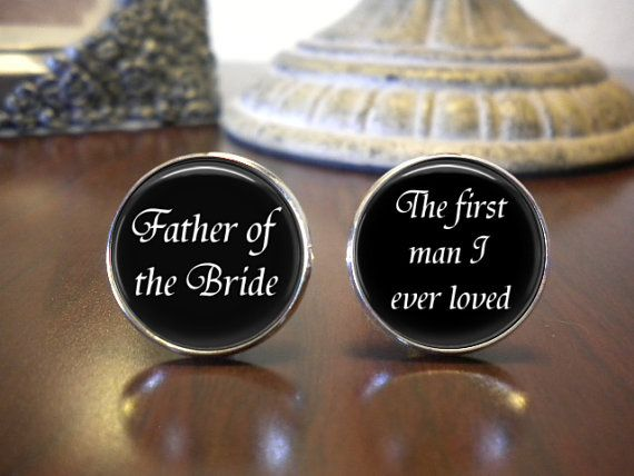 Personalized Cuff Links  Father of the Bride  by NowThatsCharming