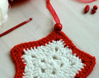 Christmas tree ornaments - Crochet Christmas decorations - Crochet star by Melinda Pix