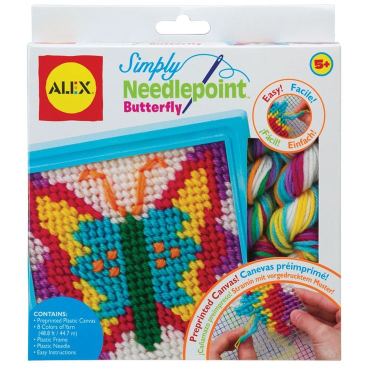 This Popular Alex Toys Simply Needlepoint Butterfly Craft Kit Is A Perfect Project For
