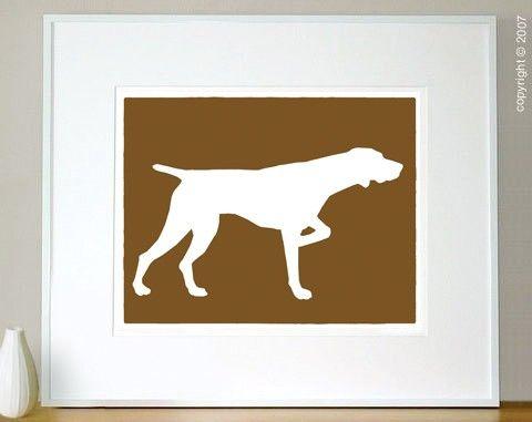 Mod German Shorthaired Pointer Fine Art Print  8x10 by ModDogShop