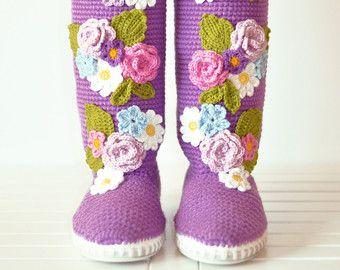 Zapatos zapatos de Novia de tacón bajo Rosas de la por JoyForToes