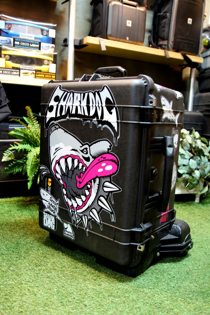 #shark DOG - #PELICAN #suitcase tuning #skin graphicer. www.graphicer.co.kr  designed by DOLDOL