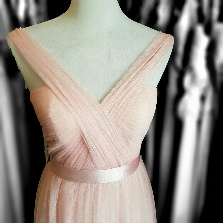 Multiway Tulle dress in soft pink - Can be worn multiable ways.