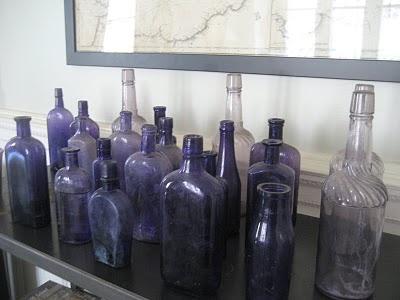 Many Purple Antique Bottles