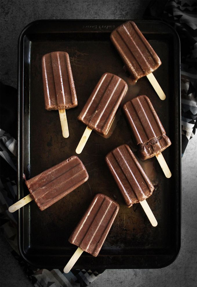 chocolate fudge popsicles