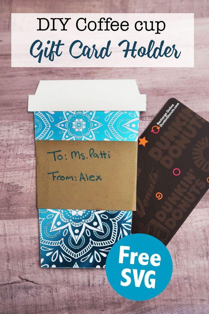 DIY Kaffeetasse Geschenkkartenhalter mit kostenloser SVG