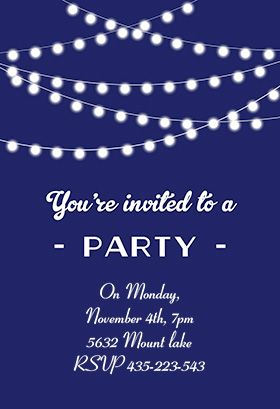 party invitation templates free