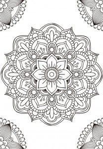 11 mandalas para colorear Budistas (8)