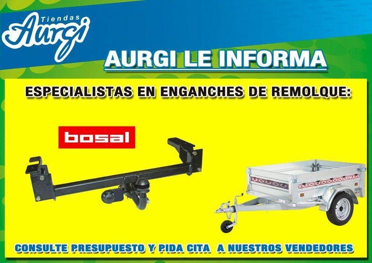 Especialistas en enganches de remolque, fijos o flexibles. Más información en http://www.aurgi.com/ o en http://www.aurgi.com/index.php/productos-y-servicios/28-productos-y-servicios/19-transporte