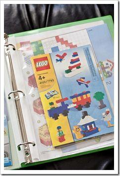 lego instruction binder for organizing booklets