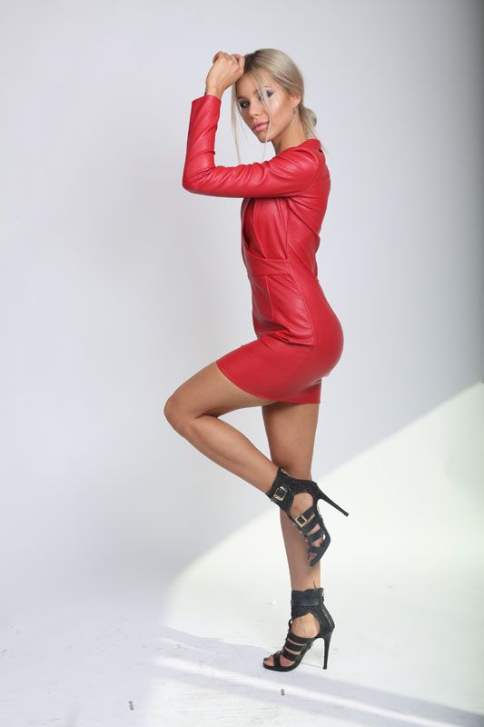 Red Leather Dress! http://www.noire.ro/product/red-leather-dress/