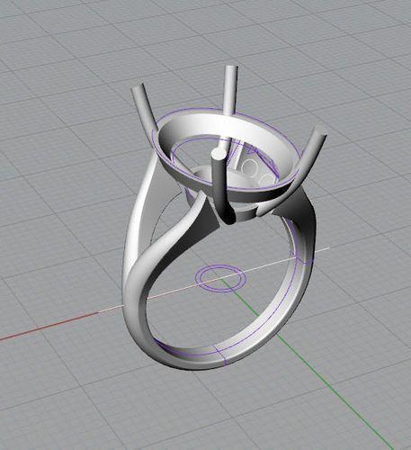 oval ring | 3D Model