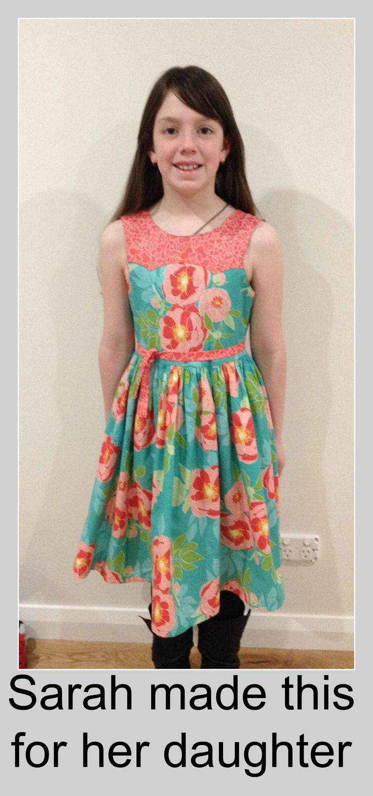 This is gorgeous. If you have children, why not learn to sew and our children can wear unique clothing just like Sarah's daughter. www.sewnsew.net.au