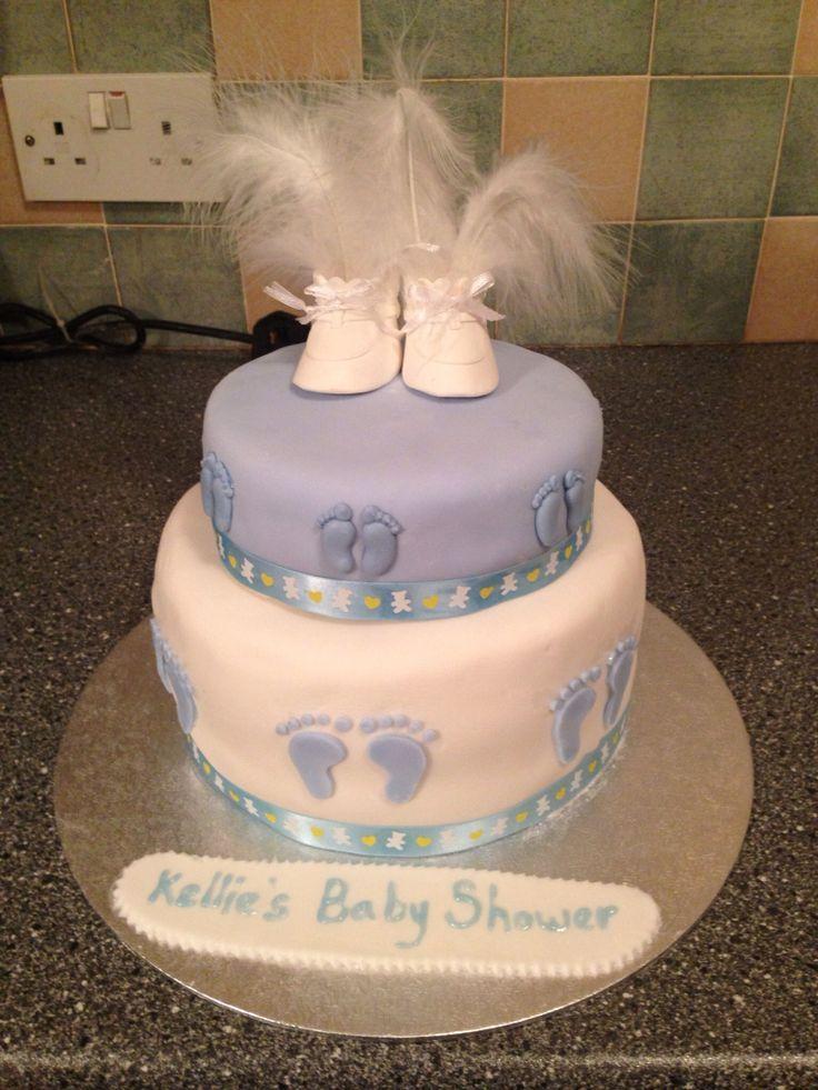 Baby shower cake - top tier Victoria sponge - bottom tier chocolate