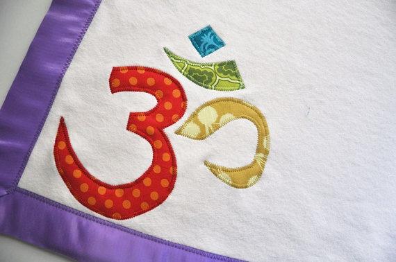 Sanskrit baby blanket