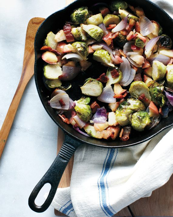 Roasting vegetables and fruits intensifies their natural sweetness. Bacon adds the perfect touch of mouthwatering savoriness.