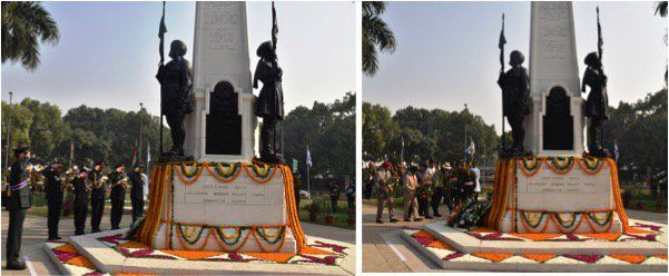 A wreath laying ceremony org today at #TeenMurti by Cav Officers Association to honour the sacrifice & contribution of the #http://IndianCavalry.pic.twitter.com/xMGmDDCQKs #IndianArmy #Army