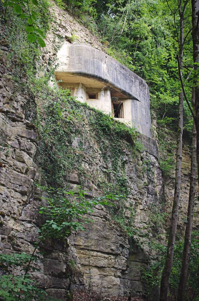 The bunker, as seen from outside.