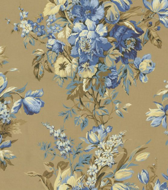 home decor fabric home decor print fabric waverly grand entrance blue 31331