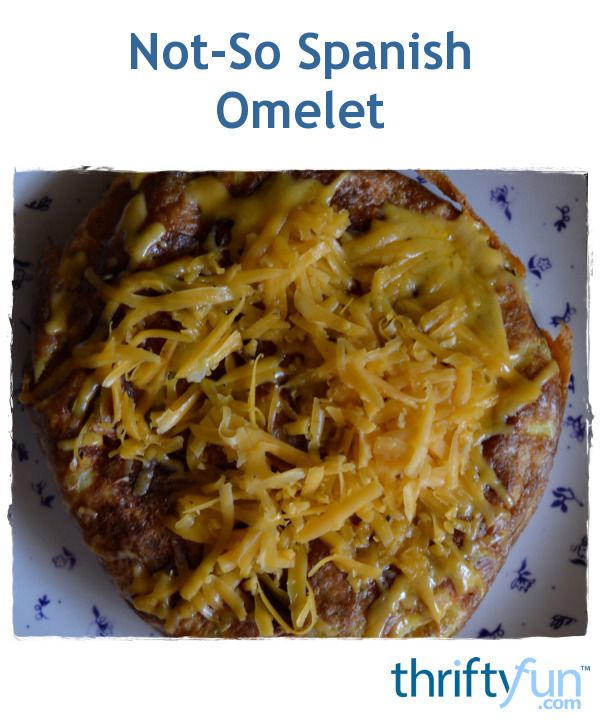 This is an adjusted version of the Spanish omelet. It makes for a hearty meal, so it works well for a brunch when served with toast.