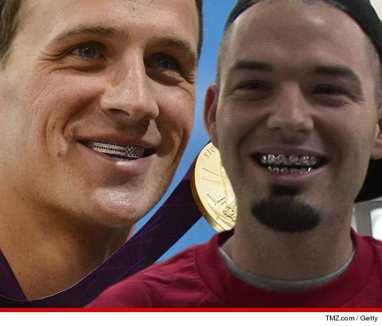 Ryan Lochte -- Paul Wall Designed My Diamond Grillz. I'm sorry... Grillz...?? Oh no Mr. Lochte.