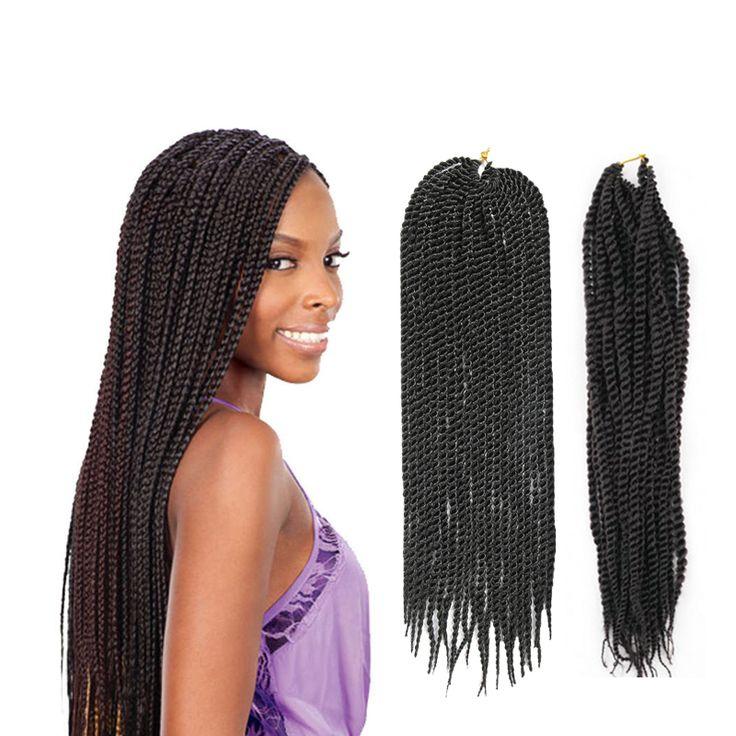 Crochet Torção Senegalês Torção Cabelo Trança de Crochê da Extensão Do Cabelo 18 ''20 Fios Trança Torção Afro para As Mulheres Negras