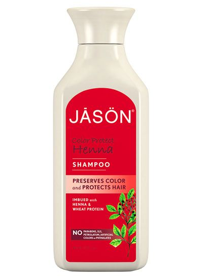Jason Colour Protect Henna Shampoo - Smells nice, and brings out the red in your hair.