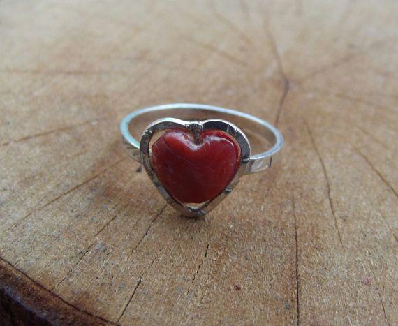 925 anello in argento anello d'argento corallo di silveringjewelry